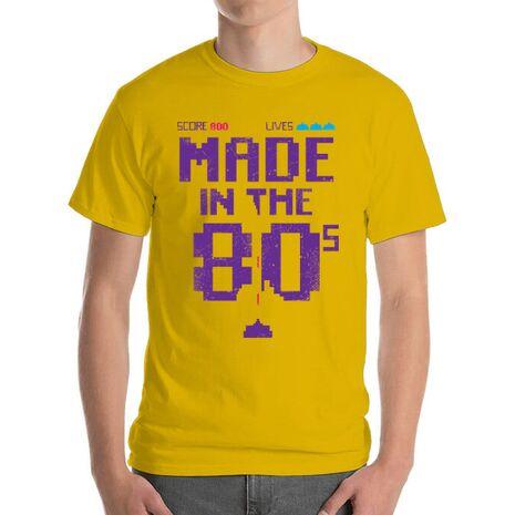 Tricou ADLER barbat Made in the 80s Galben