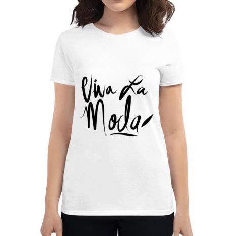Tricou ADLER dama Viva la moda Alb