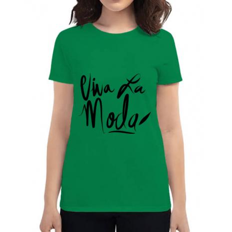 Tricou ADLER dama Viva la moda Verde mediu