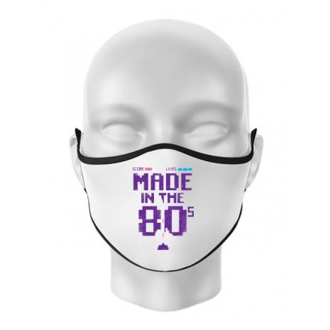 Masca personalizata reutilizabila Made in the 80s Alb