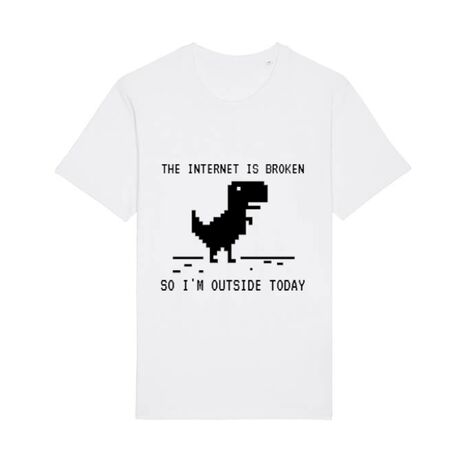 Tricou STANLEY STELLA barbat The internet is broken Alb