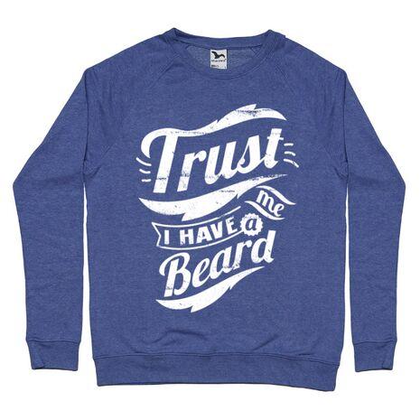 Bluza ADLER barbat Trust me, I have a beard Albastru melanj