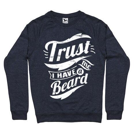 Bluza ADLER barbat Trust me, I have a beard Denim inchis