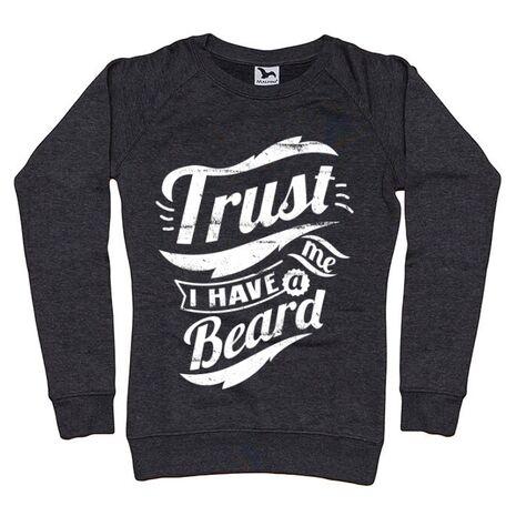 Bluza ADLER dama Trust me, I have a beard Negru melanj