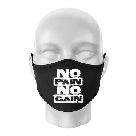 Masca personalizata reutilizabila No pain, no gain Negru