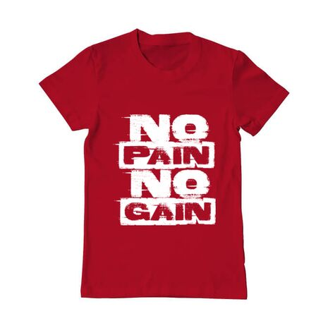 Tricou ADLER barbat No pain, no gain Rosu