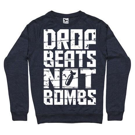 Bluza ADLER barbat Drop beats, not bombs Denim inchis
