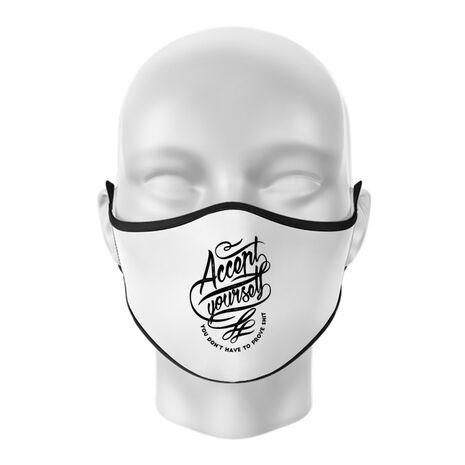 Masca personalizata reutilizabila Accept Yourself Alb