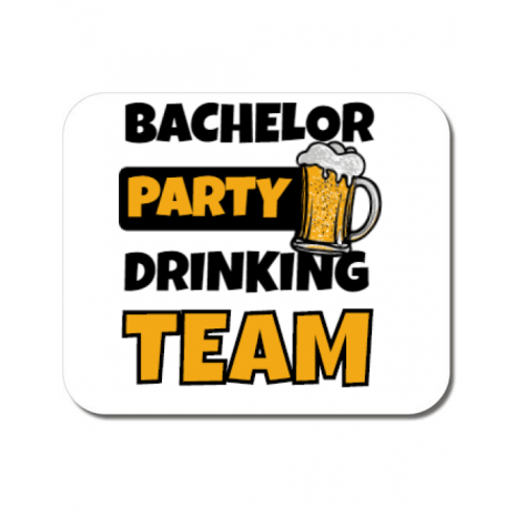 Mousepad personalizat Bachelor Party Alb