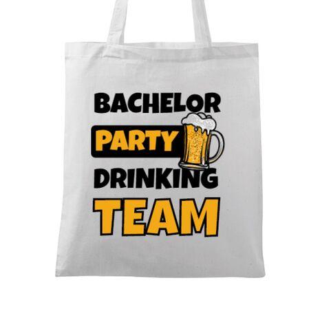 Sacosa personalizata Petrecerea burlacilor Bachelor Party Alb