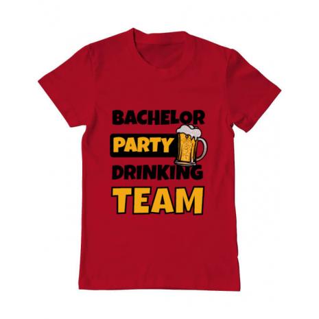 Tricou ADLER barbat Bachelor Party Rosu