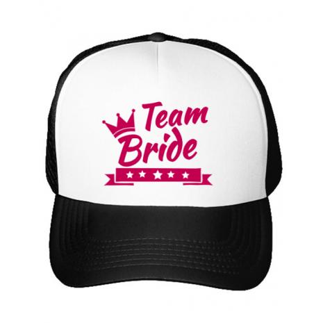 Sapca personalizata Team Bride Alb