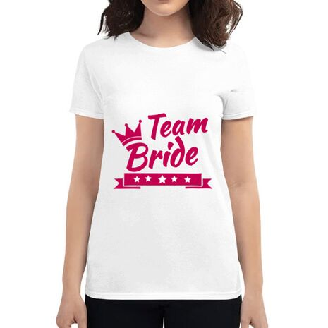 Tricou Petrecerea burlacitelor ADLER Team Bride Alb