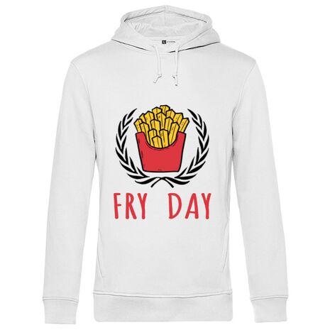 Hoodie barbat cu gluga Fry Day Alb