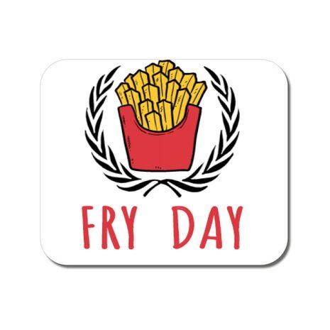Mousepad personalizat Fry Day Alb