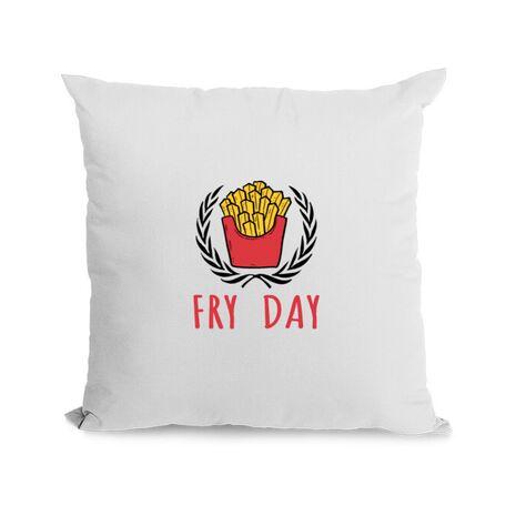 Perna personalizata Fry Day Alb