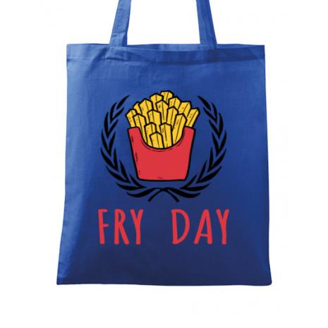 Sacosa din panza Fry Day Albastru regal
