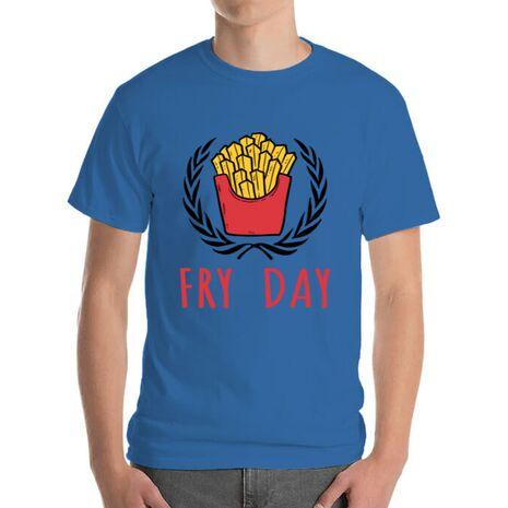 Tricou ADLER barbat Fry Day Albastru azuriu