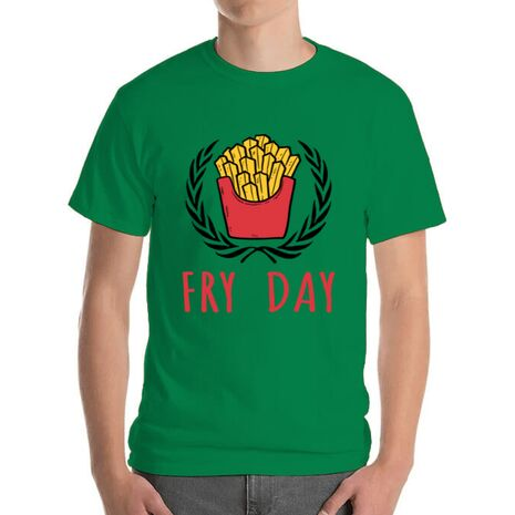 Tricou ADLER barbat Fry Day Verde mediu