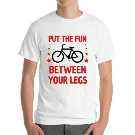 Tricou ADLER barbat Put the fun Between your legs Alb
