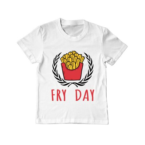 Tricou ADLER copil Fry Day Alb