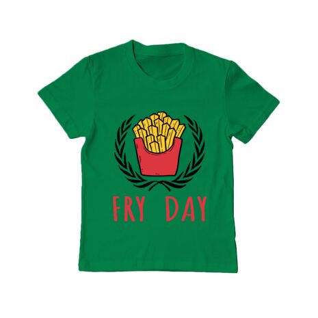 Tricou ADLER copil Fry Day Verde mediu
