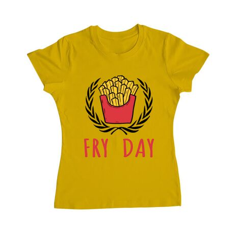 Tricou ADLER dama Fry Day Galben
