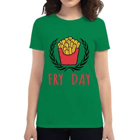 Tricou ADLER dama Fry Day Verde mediu