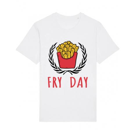Tricou STANLEY STELLA barbat Fry Day Alb