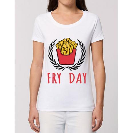 Tricou STANLEY STELLA dama Fry Day Alb