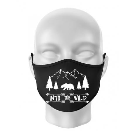 Masca personalizata reutilizabila Into the wild Negru