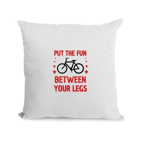 Perna personalizata Put the fun Between your legs Alb