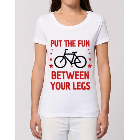 Tricou STANLEY STELLA dama Put the fun Between your legs Alb