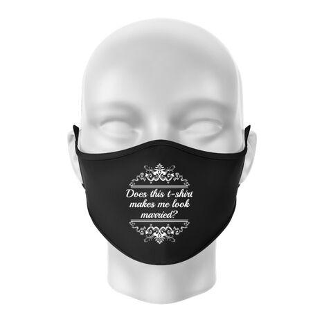 Masca personalizata reutilizabila Marriage Negru