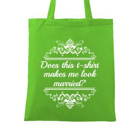 Sacosa personalizata Mireasa Marriage Verde