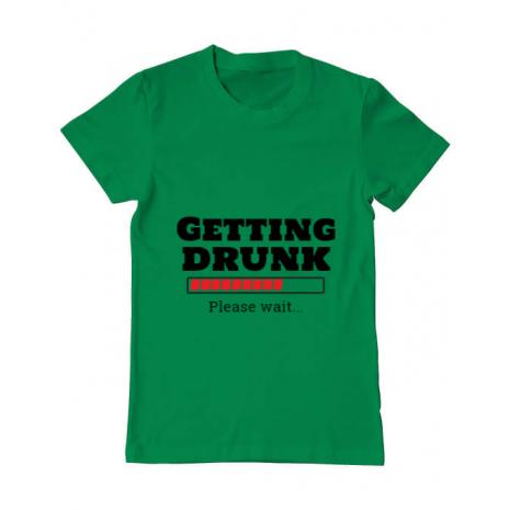 Tricou ADLER barbat Getting drunk Verde mediu