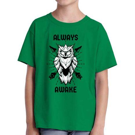 Tricou ADLER copil Always awake Verde mediu