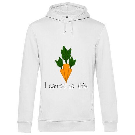 Hoodie barbat cu gluga I carrot do this Alb