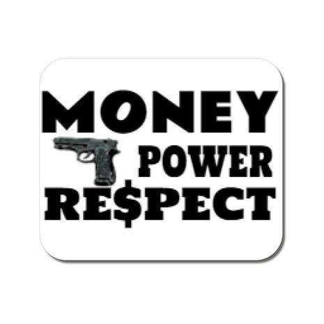 Mousepad personalizat Money, power,respect Alb