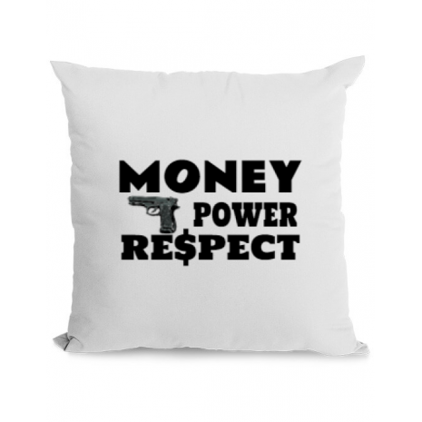 Perna personalizata Money, power,respect Alb