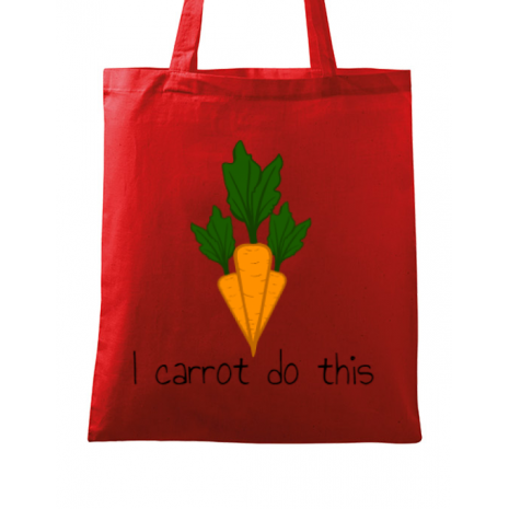 Sacosa din panza I carrot do this Rosu