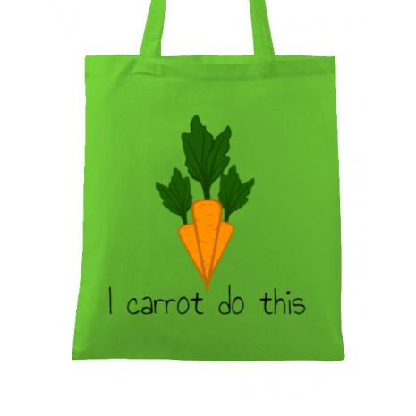 Sacosa din panza I carrot do this Verde mar