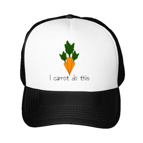 Sapca personalizata I carrot do this Alb