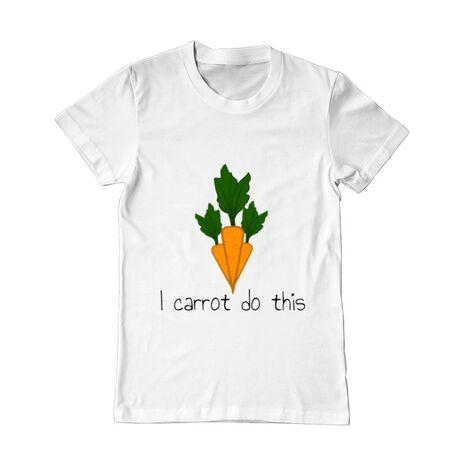 Tricou ADLER barbat I carrot do this Alb