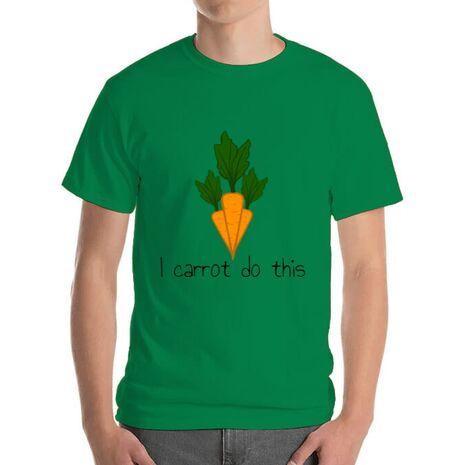 Tricou ADLER barbat I carrot do this Verde mediu