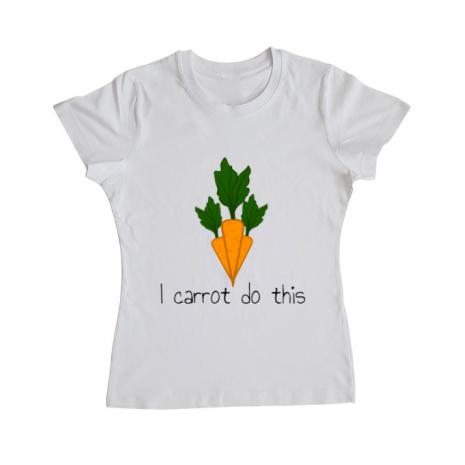 Tricou ADLER dama I carrot do this Alb