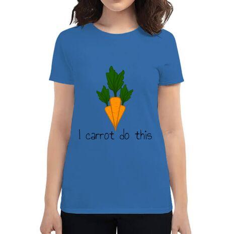 Tricou ADLER dama I carrot do this Albastru azuriu