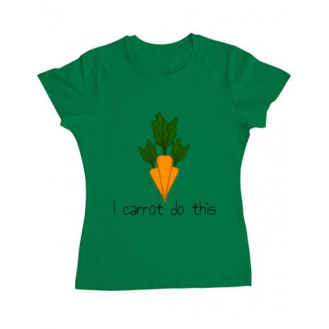 Tricou ADLER dama I carrot do this Verde mediu