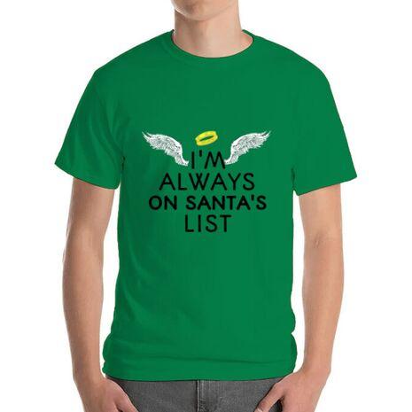 Tricou ADLER barbat Always on santa's list Verde mediu