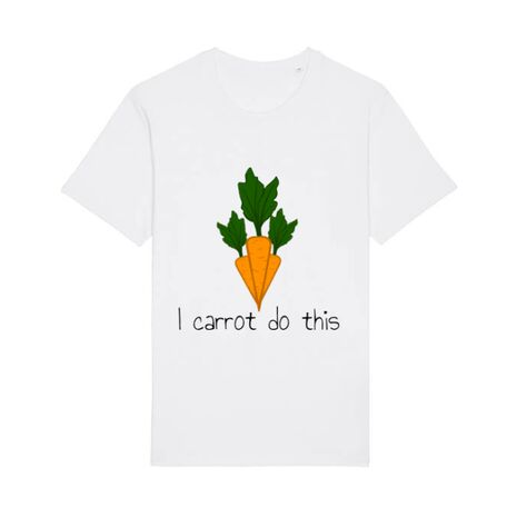 Tricou STANLEY STELLA barbat I carrot do this Alb